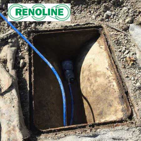 Drain Repairs Kent Applying Patch Liner